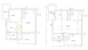 modifiche interne nel progetto di interni per residenza privata