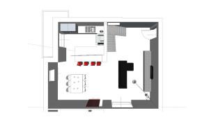 Vita aerea della residenza privata oggetto del progetto di interni