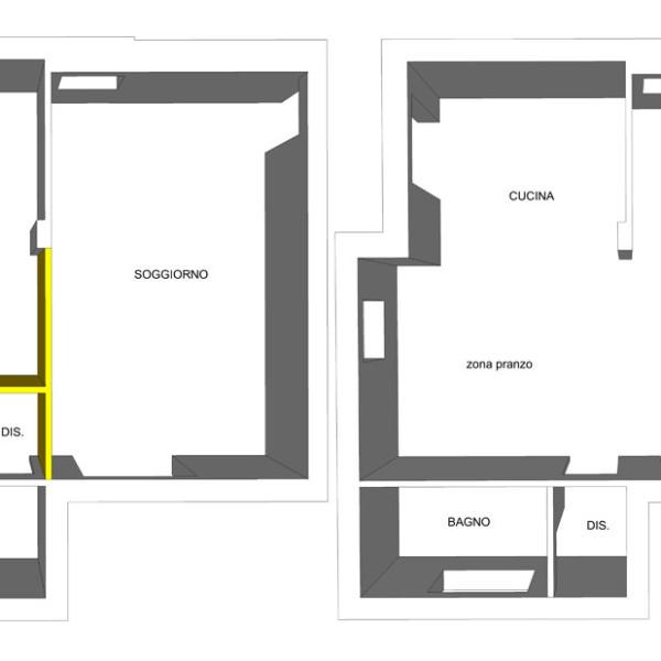 Nichelino progetto di interni ante e post operam