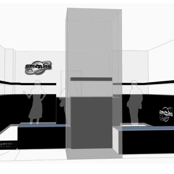 progetto interno del negozio smooke di Valencia Serreria Spagna