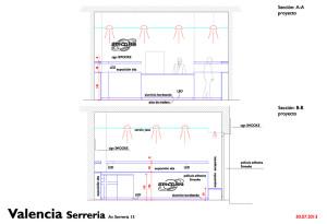 Studio architettonico dello store smooke a VAlencia Serreira Spagna