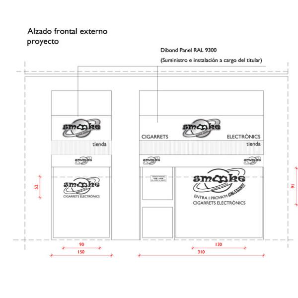 progetto del layout esterno