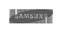 Logo samsung bianco e nero commessa eurofiere