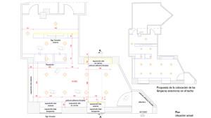 progetto architettonico interno della distribuzione dello store