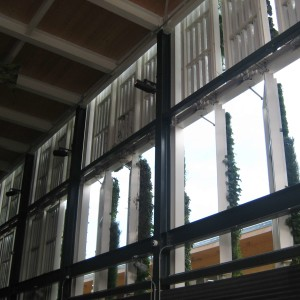 USA Expo 2015 interno pareti mobili verde verticale
