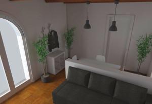 Modena studio di interni living room - ingresso