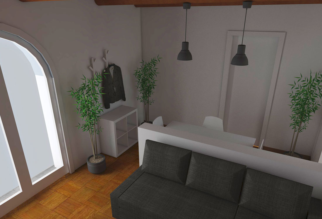 Modena studio di interni living room - ingresso