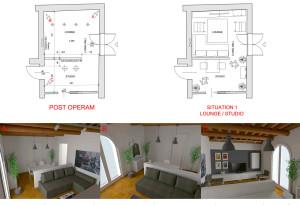 Modena studio di interni living room
