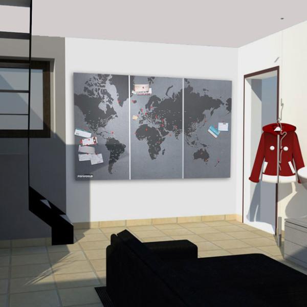 simulazione tridimensionale dell'ingresso della residenza privata a Nichelino
