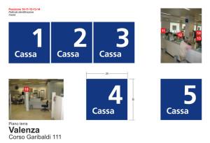 progettazione della segnaletica direzionale interna della filiale di Valenza Intesa Sanpaolo