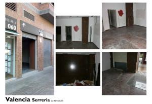 progetto di store design smooke Valencia situazione ante operam
