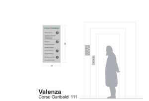 progetto della segnaletica interna direzionale della filiale di Valenza.