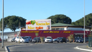 Progetto preliminare delle insegne previste per il Venezia Bet Palace
