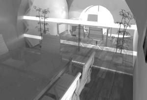 Asti. Proposta di studio di interni. Progetto architettonico dei nuovi uffici per l'impresa edile La Fenice, sala riunioni e direzione