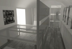 Asti. Proposta di studio di interni. Progetto architettonico dei nuovi uffici per l'impresa edile La Fenice, ufficio operativi