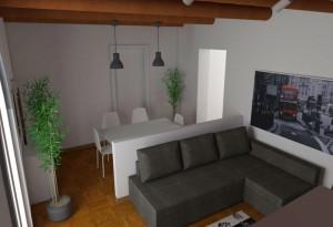 Modena studio di interni living room - Zona pranzo e studio