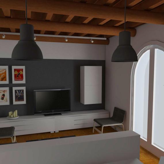 Modena studio di interni living room - ingresso e salotto