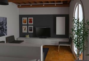 Modena studio di interni living room - indicazioni del cliente per un arredo Ikea
