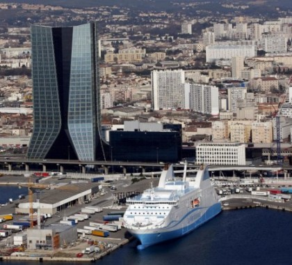 2015 | Marsiglia, Francia, il grattacielo della società di trasporto navale CMA-CGM